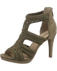 4edc81fb2df26d Tamaris - »Myggia« High-Heel-Sandalette in Makramee-Optik - Lyst