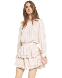 3a1b9ce8fa01 MISA Teget Knot Front Dress in Pink - Lyst
