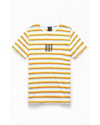 2cb2a3123a Lyst - Obey Program Box Striped T-shirt in Green for Men