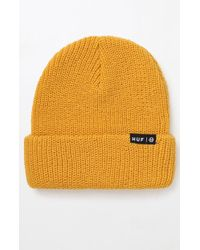 7e66fb9a716 Lyst - Huf Usual Beanie in Gray for Men