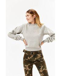 Kendall + Kylie - Open Back Fleece Sweatshirt - Lyst