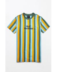 Huf - Stripe Gold & Green T-shirt - Lyst