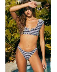 bd19db7d50 MILLY Laguna Triangle Bikini Top in Yellow - Lyst