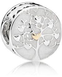 PANDORA - Tree Of Hearts Charm - Lyst