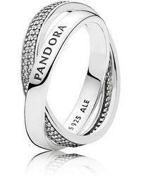 PANDORA - Promise Ring - Lyst