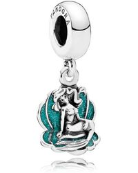 PANDORA - Disney, Ariel & Sea Shell Pendant Charm - Lyst