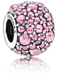 PANDORA - Pink Shimmering Droplets Charm - Lyst