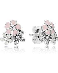 PANDORA - Poetic Blooms Stud Earrings - Lyst