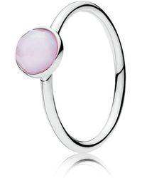 PANDORA - October Droplet Birthstone Ring - Lyst