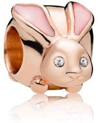 PANDORA - Cute Bunny Charm - Lyst