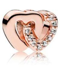 PANDORA - Interlocked Hearts Petite Locket Charm - Lyst