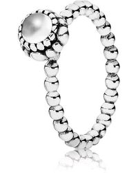 Pandora | April Birthstone Ring | Lyst