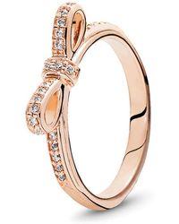PANDORA - Bow Ring - Lyst