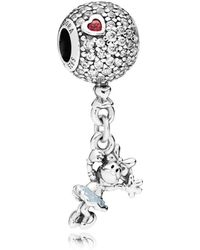 PANDORA - Disney, Floating Minnie Pendant Charm - Lyst