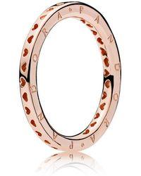 PANDORA - Signature Hearts Of Ring - Lyst