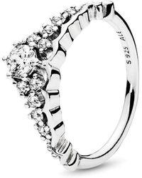 PANDORA - Fairytale Tiara Ring - Lyst