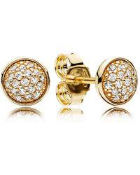 PANDORA - Dazzling Droplets Earrings - Lyst