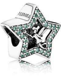 PANDORA - Disney, Tinker Bell Star Charm - Lyst