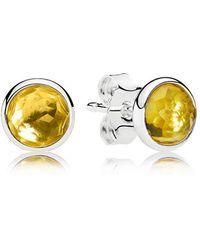 PANDORA - November Droplets Stud Earrings - Lyst