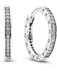 6207bb0e8 COACH Signature C Stud Earrings in Metallic - Lyst