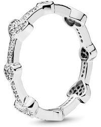 PANDORA - Alluring Hearts Ring - Lyst