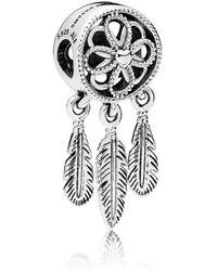 PANDORA - Spiritual Dreamcatcher Charm - Lyst