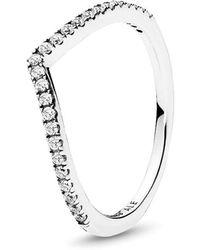 PANDORA - Beaded Wish Ring - Lyst