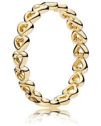 PANDORA - Linked Love Ring - Lyst