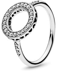 PANDORA - Hearts Of Halo Ring - Lyst