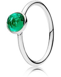 PANDORA - May Droplet Birthstone Ring - Lyst