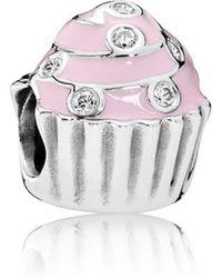 PANDORA - Sweet Cupcake Charm - Lyst