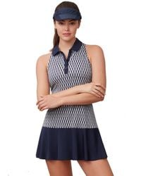Fila - Argyle Tennis Polo Dress - Lyst