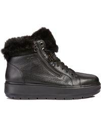 Geox - D Kaula B Abx Women's Mid Boots In Black - Lyst