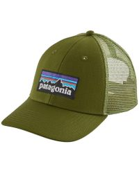 Lyst - Patagonia P6 Lopro Trucker Hat in Gray for Men 65dfc26635030