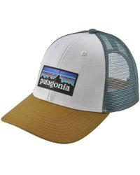 605fb0b3523ed Lyst - Patagonia P-6 Logo Trucker Hat in Blue for Men