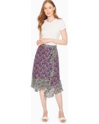 Parker - Collins Silk Blend Wrap Skirt - Lyst
