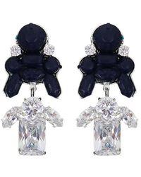 EK Thongprasert - Stepney Drop Earrings Dark Blue/white Crystals - Lyst