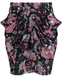 Isabel Marant - Tilena Skirt Paisley Techno Print Faded Black - Lyst