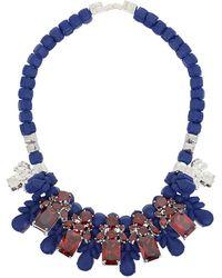 EK Thongprasert - Silicone Five Jewel & Metal Neckpiece Dark Blue/red Crystals - Lyst