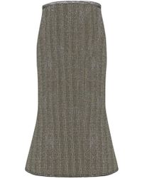 Ellery - Beedee Lurex Skirt Gold/silver - Lyst