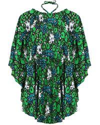 d3dfcb02c5cdd7 Balenciaga - Multi-styling Waterlily Print Top Emerald - Lyst
