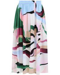 Emilio Pucci - Mirage Print Midi Skirt Multicolour - Lyst