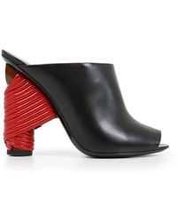 Balenciaga - Bistrot 110mm Mule Black/red - Lyst