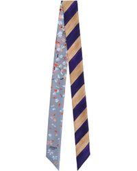 Fendi - Wonders Wrappy Scarf Purple Stripe - Lyst