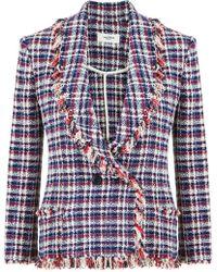 Isabel Marant - Etoile Nicole Check Jacket Blue - Lyst