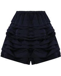 Comme des Garçons - Tiered Ruffle Shorts Navy - Lyst