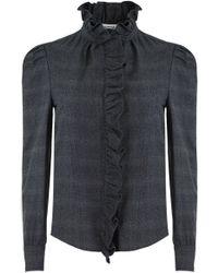 d9aa9ce9df0d48 Isabel Marant - Etoile L s Dules Ruffle Detail Shirt Anthracite - Lyst