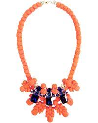 EK Thongprasert - Silicone Three Jewel Neckpiece Salmon/dark Blue Crystals - Lyst