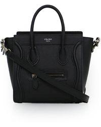 Céline - Nano Luggage Black - Lyst