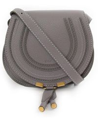 Chloé - Marcie Small Saddle Bag Cashmere Grey - Lyst